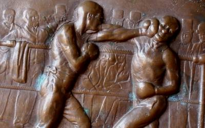 Bronze Boxing Plaque