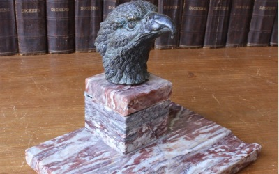 Bronze Eagle Desk Stand