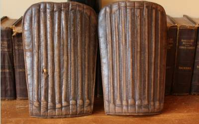 Brown Leather Shinpads