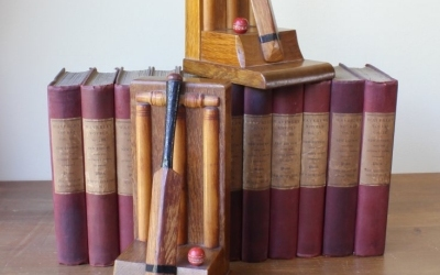 Cricket Bat & Ball Bookends