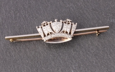 Naval Royal Crown Brooch