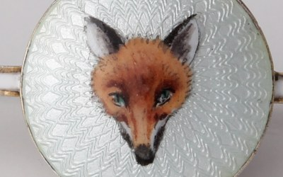 Fox Head Bar Brooch