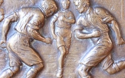Bronze Football Plaque