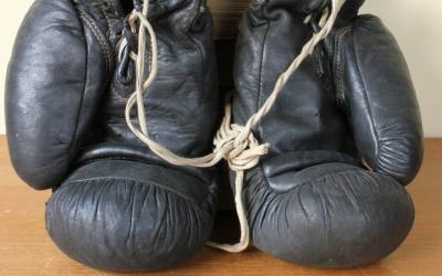 Frank Bryan Black Boxing Gloves