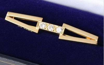 Geometric Diamond Brooch