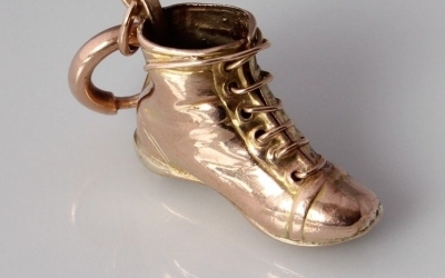 Gold Football Boot