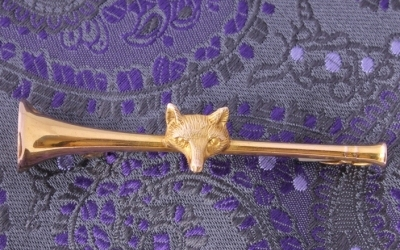 Gold Fox Brooch