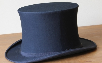 Black Opera Top Hat