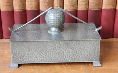 Pewter Golf Box