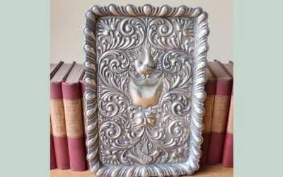 Silver Plated Repousse Tray