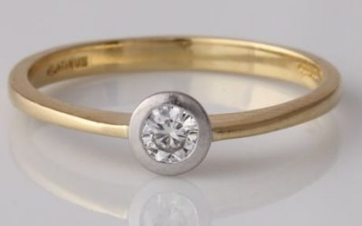 Rub Over Solitaire Ring