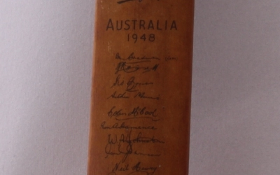 Signed Cricket Bat