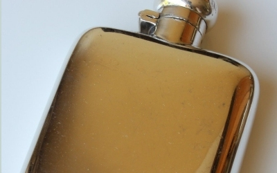 Silver Plate Despatch Flask