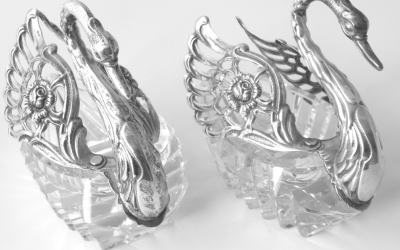 Silver Swan Dishes