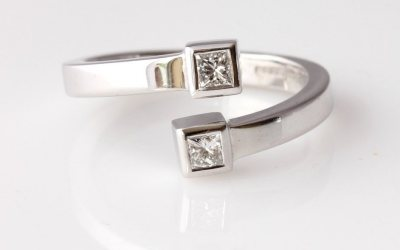 Two Square Diamond Ring
