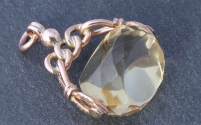 Citrine Watch Fob