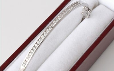 White Diamond Bangle