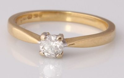 Yellow Gold 0.25ct Solitaire Ring