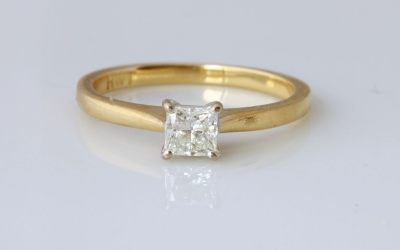 Yellow 0.38ct Solitaire Ring